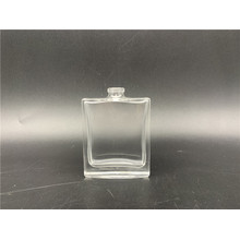 Men's spray 25 ml flat transparent square glass bottle