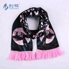 100% Polyester Customized Printing Satin Football Scarf