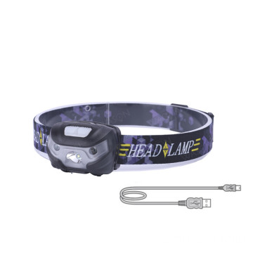 Lightweight LED Rechargeable Headlamp Flashlight