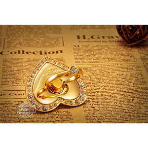 VENICEN heart-shaped ring stand with grip hook