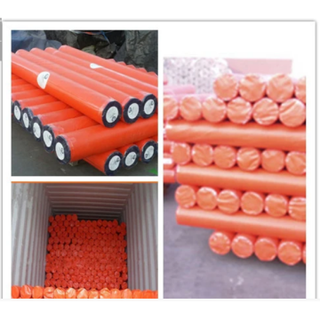 Orange Waterproof Plastic PE Tarpaulins rolls