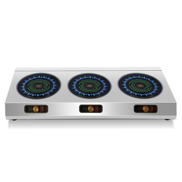 Commercial Induction Cooker Electric Ceramic Stove Multi-head Three Stoves Electromagnetic Oven 2500w*3 Radiant Cooker