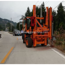 Highway Guardrail Post Driver