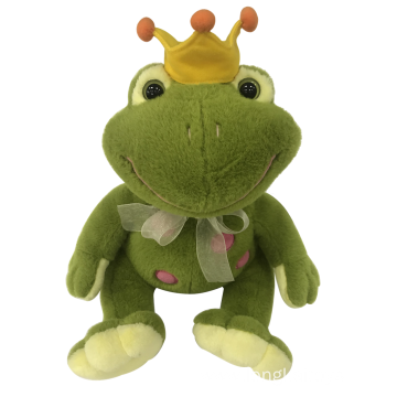 Plush Frog With Crown