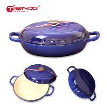 Enamel Cast Iron Pots dutch oven SouP Stock Saucepan Spanish seafood pan Stew Pot cookware cooking cooker Casserole kitchen