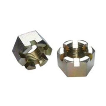 Fastener Din 935 Hex Slotted Nut Grade A