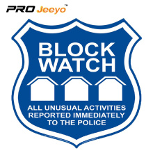 New customized police reflective block watch signs
