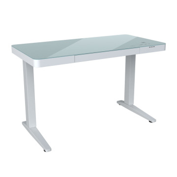 Height adjustable glass Computers table