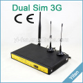 support VPN F3446 3G dual sim wifi router with external antenna