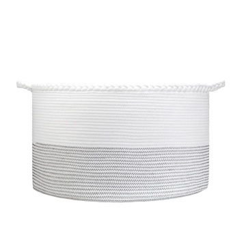 Hot selling Household Cotton Rope Basket Portable Hamper