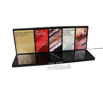 APEX Black Acrylic Counter Lipstick Display Stand Custom