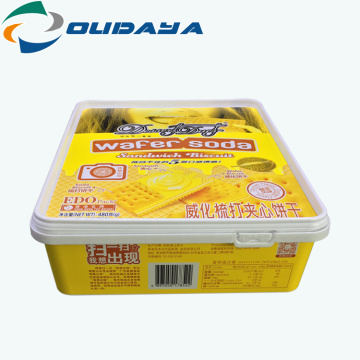 Plastic Biscuit Storage Container Box