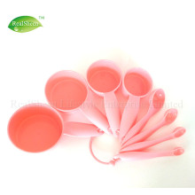 8Pieces Plastic Measuring Cups and Spoons Set
