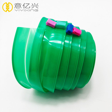 Decorative green pvc zippers roll for pouch