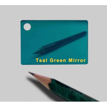 Grey coating Teal Green Mirror Acrylic Sheets