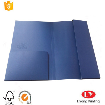 Custom A4 size uncoated paper file folder