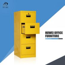 Steel filing cabinet with four drawers