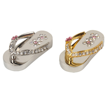 Metal crystal Slippers USB Flash drive