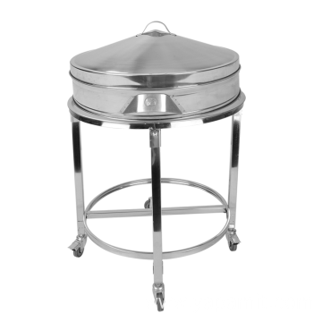 Round Stainless Steel Steamer Trolley