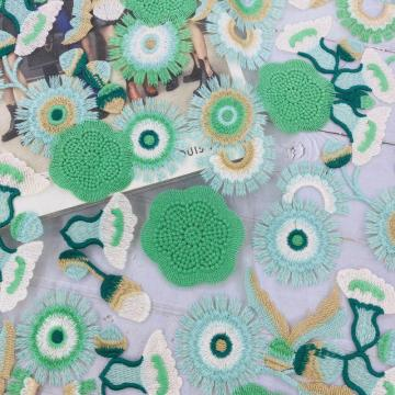 Vogue Poly Green Sewing Thread Embroidery Fabric