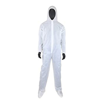 full plastic white disposable coveralls overalls chemical protective surgical suit disposable antistatic fabric