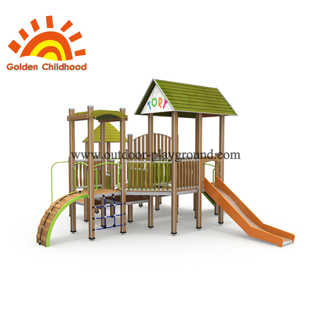 Wood Slide Outdoor Playground Equipment For Children