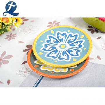 Decorative Custom Hand Painting Dessert Small Dish Ceramic Fruit Plate