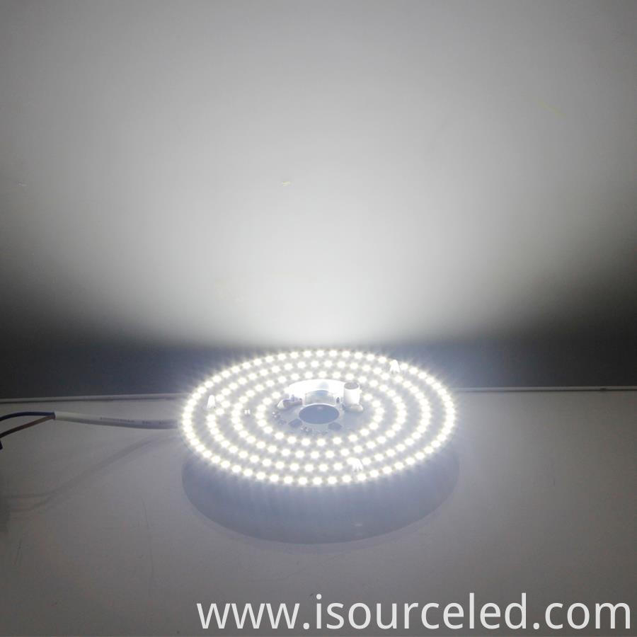 White light 15W led dimmer module round ac 220v product power-on luminous diagram