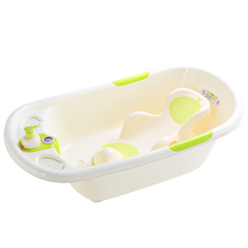 Infant Product Baby Bathtub With Thermometer And Bathbed