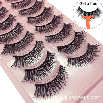 3d Silk Fiber False Eyelashes 10 pairs