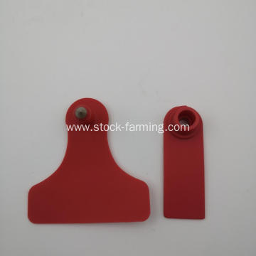 livestock cattle use plastic ear tag