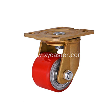 Low Gravity Caster Wheel PU on Cast Iron