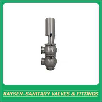 Sanitary pneumatic divert seat valve with clamped end