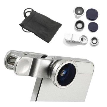 Fisheye Lens 3 in 1 Mobile Phone Lenses Fish eye +Wide angle +Macro Camera Lens for iphone 7 6s plus 5s 5 Xiaomi Huawei Samsung