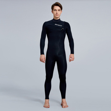 Seaskin Mens 3/2 Chest Zip Steamer Wetsuit