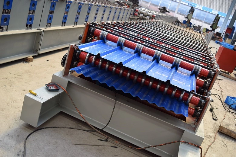 automatic double layer tile making machine