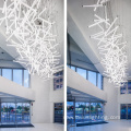 Customized shopping mall exhibition hall led chandelier lamp