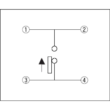 Small Two-way Action Switch with Positioning Pin
