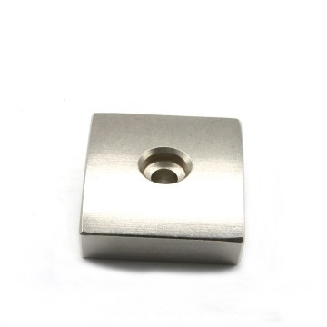 arc shape countersunk hole pump magnet