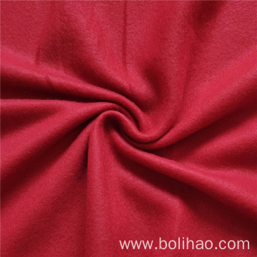 Red Solid Double Side Brushed Fleece Fabric