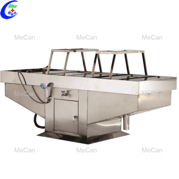 Stainless steel morgue autopsy table mortuary equipment