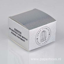 Design Printed White Cardboard Paper Cosmetic Box Packaging