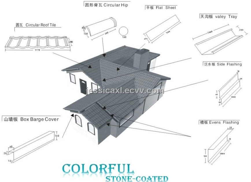 Metal stone roofing tile making machine