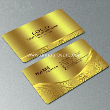 Free Design Customized 304 Stainless Metal Business Card