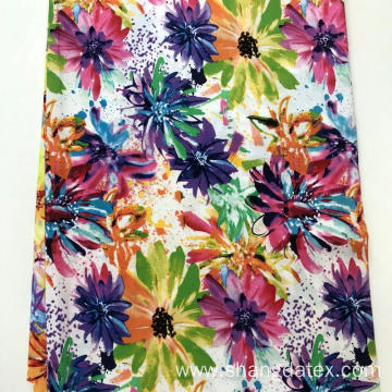 Spring And Summer Rayon Semi Digital Print Fabric