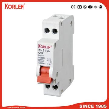 KNB1-32 Miniature Circuit Breaker 4.5KA rated current 32A