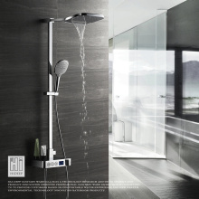 HIDEEP Wall Mount Digital Display Bathroom Shower Faucet