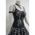 Black latin dance dress