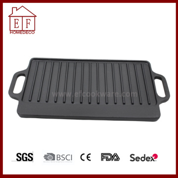 Pre-seasoned Cast Iron Griddle Rectangular
