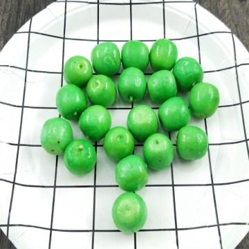 10 pcs Small Berries Artificial Flower Plastic Simulation Model Wedding Pearlized Stamen Pomegranate Green Apple Glass Decoratio